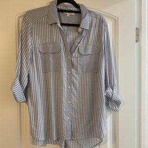 Two by Vince Camuto Oversized Striped Shirt